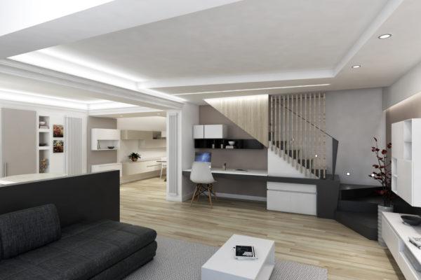 Rendering 3d Studio Max & V-Ray – Abitazione Privata