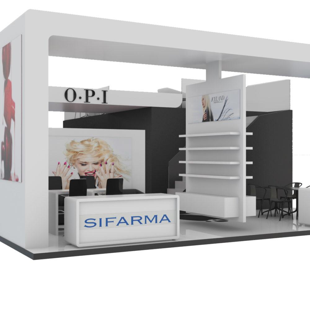 Modellazione 3D e Rendering Stand Espositivo (Milano)