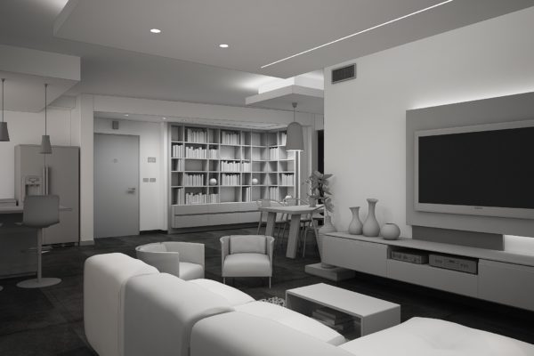 Rendering Concettuale 3D Studio Max & V-Ray – Abitazione Privata
