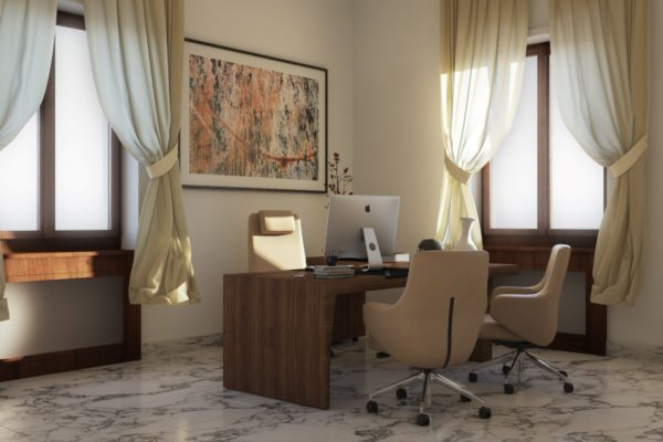 Rendering Ristrutturazione e Arredo Ufficio Direzionale – Roma